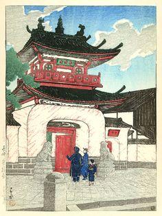 hanga gallery . . . torii gallery: Sufukuji Temple, Nagasaki by Kawase Hasui