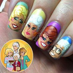 golden girls by jamylyn_nails #nail #nails #nailart