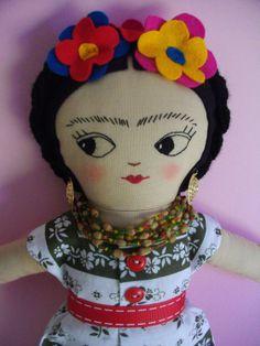 FRIDA KAHLO Art Doll Handmade plush toy by PalookaHandmade on Etsy, $55.00