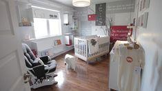 Paroles de comptine au mur    La chambre de bébé unisexe de Stéphanie, participante à l'émission dÉCO tendance