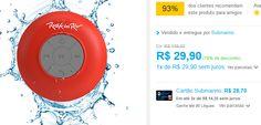 Caixa Rock in Rio Acqua Bluetooth Resistente à Água Aquarius << R$ 2691 >>