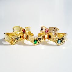 $30 - Sailor Moon Tiara rings I crave that Jupiter Green shutupandtakemyyen.com