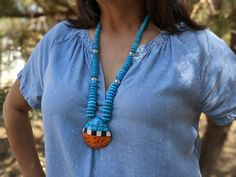 Tribal Necklace, Turquoise Necklace, Pueblo Tribe, Zuni Jewelry, Coral Stone, Coral Turquoise, Native American Jewelry, Jewelry Collection, Jewelry Making