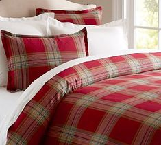 Blake Plaid Duvet Cover Sham #potterybarn