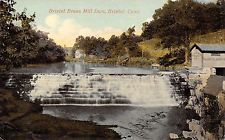 Bristol Connecticut~Bristol Brass Rolling Mill Dam~Building~1909 Postcard