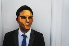 3D Polygon Masks You Create From Recycled Materials -  #3d #art #masks