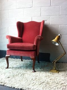 I would kill, to have a pair of these bad boys in my living room.... Especially if they are velvet!!! Vintage Parker Knoll Wingback Armchair