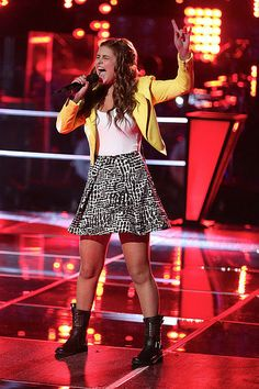 Jacquie Lee performs during the knockout round on The Voice. (NBC Photo) --- this girl is GOOD. Might be my favorite this season even though she's not Team Blake