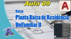 Planta Baixa de Residência Unifamiliar II – Aula 09/52 - Ferr. de Auxíli...