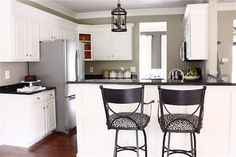 Love this look. The Yellow Cape Cod: Painting Kitchen Cabinets (Painted Cabinetry)