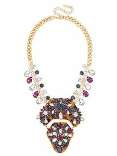 this fabulous embellished tortoise pendant has us hooked!