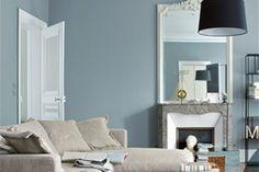 Grijs-blauw interieur