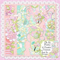 Oh So Pretty Digital Scrapbook Kit Page by JssScrapBoutique, $2.99