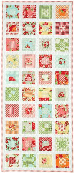 Little Squares by Jen Daly from Quilters Newsletter June/July 2015