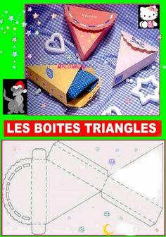 Cajitas triangulares.