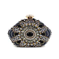 Joya de cuentas bolsos de tarde del diamante del embrague del partido bolso de mano de la boda cadena de la mujer monederos y bolsos pequeña billetera bolsos de señora AB1138(China (Mainland))
