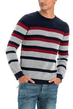 salsa jeans T-Shirt, kurzarm Cotton Sweater, Men Sweater, Mens Fashion Sweaters, Tea Brands, Denim Jacket Men, Striped Polo Shirt, Knitwear, Kids Fashion, Knitting