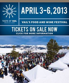 We are so excited to be participating in Taste of Vail this year!  Friday April 5th is our wine dinner with Antinori, $75 for 6 Courses paired with 6 wines!!
