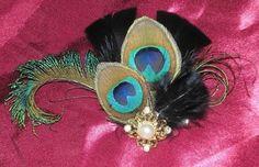 Peacock Hair Fascinator Bridal Hair by BittysJewelryAndMore, $38.95