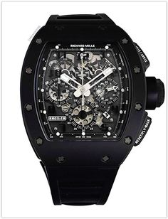 0148a597f9c Richard Mille RM 011 Automatic-self-Wind Men s Watch Carbon rubber RM011  Price Mens
