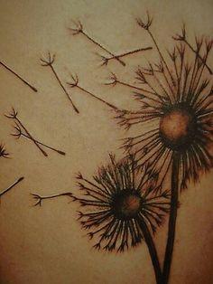 Dandelyne dandelion tattoo