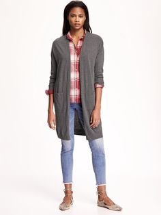 Long Open Front Cardigan | Old Navy