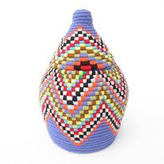 'Lavender Lace' Moroccan Woven Bread Basket