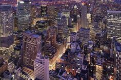 Reiffer captures the jam-packed nature of New York City from high above most of the buildi...