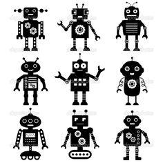 depositphotos_12622494-Robot-silhouettes-set.jpg (1024×1024)