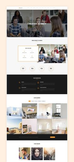 Anzio – Fully Responsive, Modern and Multipurpose. With the ANZIO Theme you can create a Professional Portfolio, Agency, Personal blog, or Team showcase website. #onepage #wordpress #theme
