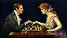 """A Lost Game"" by an unknown artist, circa 1910"