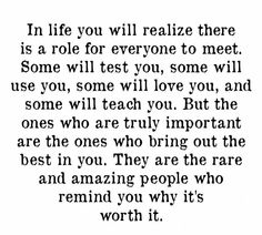 To the amazing and rare people in my life.