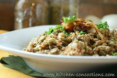 Kitchen Concoctions: Lentil and Bulgur Pilaf with Caramelized Onion #recipe #dinner #vegetarian #meatlessmonday
