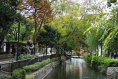 Okayama 岡山 3時間で巡る「伝説の岡山市」 初めての岡山市内観光コース - 晴れらんまん。おかやま旅ネット 西川緑道公園  大都会岡山にこんな癒しスポットが!!  岡山市を南北に流れる西川沿いの公園は四季折々の草花を楽しむことができます。街中をゆったり流れる川を見ながらのお散歩で気分もリフレッシュ!