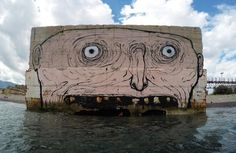 "New mural by NemO's - ""Drinking, eating, looking, screaming, swimming"" - Messina, Italy - Sept 2015"
