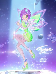 "And another Tynix fairy! My favourite Winx fairy.   Click on ""Download"" to see the full resolution. ^^ Edit: Now she has wings! (by FelixCouture - fav.me/d96bkuq ) and I slightly cha..."