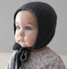 Baby Bonnet Hat, Soft Knit Baby Hat, Baby Knit hat, sizes from Newborn Baby Hat Knitting Pattern, Baby Hat Patterns, Baby Hats Knitting, Knitted Hats, Tricot Baby, Knit Crochet, Crochet Hats, Baby Layette, Baby Bonnets