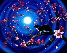 La luna y el gato