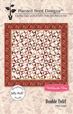 Double Twirl Quilt Pattern Planted Seed Designs - Fat Quarter Shop