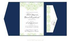 Zaproszenia  ślubne w kolorze pistacjowym    green wedding invitation, navy pocketfold