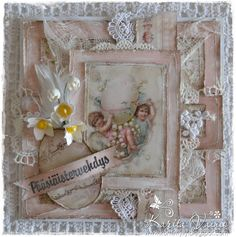 Easter Card created by LLC DT Member Karita Vainio, using image & papers from Pion Design.