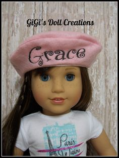 Grace inspired Paris doll beret for American Girl Doll