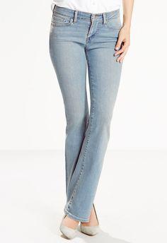 Straight leg Levis,  slightly darker wash