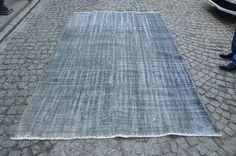 Gray oushak Rug, Turkish ushak Carpet, Handmade Grey Rug, Overdyed Rugs, Size is (275 cm x 177 cm)   9,0 feet x 5,8 feet model:469 by OushakRugs on Etsy