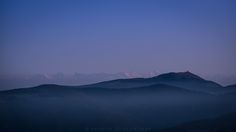 https://flic.kr/p/MUp7Rw | Le Grand Ballon vs Les Alpes | A picture taken well after sunset while the fog was slowly rolling in into the valleys. This is the view from the summit of Le Hohneck towards Le Grand Ballon, the highest mountain of the Vosges. Weather conditions were awesome enabling me to also catch a glimpse of the Alps in the background.