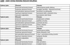 ZÁŘÍ JSME JEDNA RODINA ŠKOLNÍ DRUŽINA - PDF Rodin, Hana