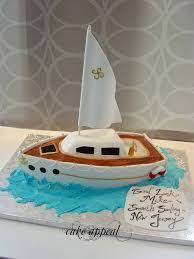 sailboat cake from Cake Appeal, Fort Wayne, IN Sailboat Cake, Nautical Cake, Birthday Candles, Birthday Cake, Fondant Decorations, Cupcakes, Cake Decorating, Flower Cakes, Biscuit