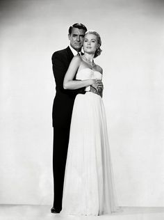 www.editorialite.com / Grace Kelly Cary Grant Edith Head / To Catch A Thief / White Dress