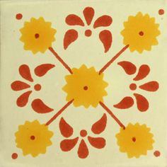 Traditional Mexican Tile - Daisy flower