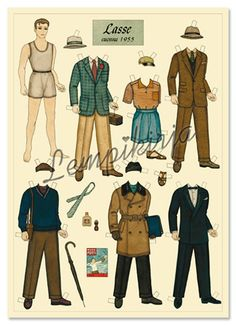 Lasse in 1955, the Paper Doll Card FINNISH